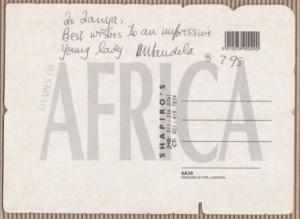Nelson Mandela Postcard Back